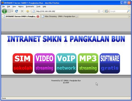 Screenshot Intranet SMKN 1 Pangkalan Bun